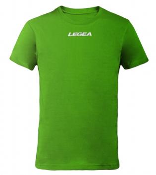 T-Shirt Basic Legea Girocollo Logo Sport Uomo Bambino BOX 10 PEZZI GIOSAL-Verde-5XS