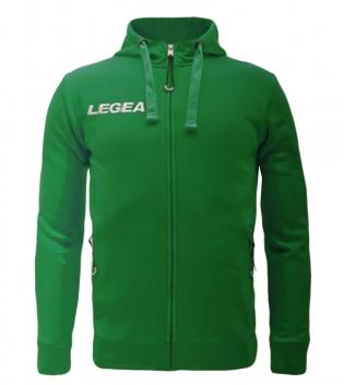 Felpa Uomo Legea Sarajevo Hood Full Zip Free Time Sport Uomo Bambino GIOSAL-Verde-3XS