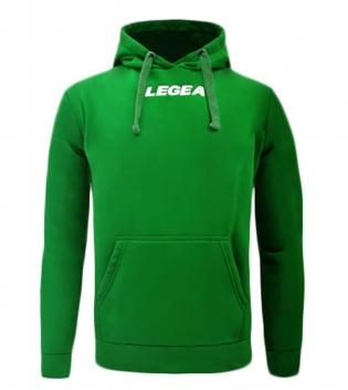 Felpa Uomo Spalato Hood Kangaroo Pockets Uomo Bambino Legea Cappuccio GIOSAL-Verde-2XS