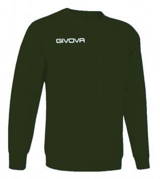 New Maglia Girocollo Givova One Uomo Donna Bambino Sport Relax Unisex GIOSAL-Verde Militare-3XS