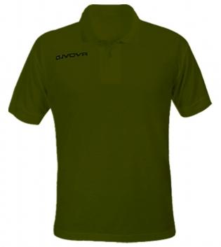 Polo Summer GIVOVA Uomo Maglia Uomo Donna Bambino Unisex Sport Comfort Relax GIOSAL-Verde Militare-3XS