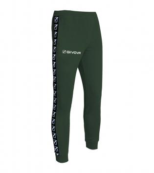 Pantalone Uomo Sport Tuta Tricot Band Uomo Donna Bambino Abbigliamento Sportivo GIOSAL-Verde Militare-S