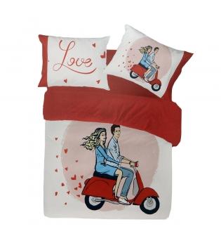 Completo Lenzuola Vespa Love Cuori Stampa Digitale Pierre Cardin Matrimoniale GIOSAL