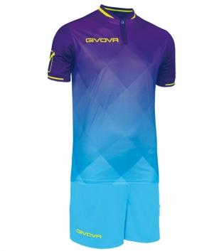 Kit Shade Calcio Sport GIVOVA Abbigliamento Sportivo Uomo Calcistico GIOSAL-Viola-Turchese-M