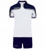 Completo Tuta Givova New Kit Fast Polo Pantaloncini Blu Bianco Bicolore Completino Free Time GIOSAL