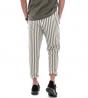 Completo Uomo Casual Outfit Camicia Pantalone Lino Tinta Unita Verde GIOSAL
