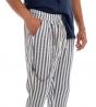 Completo Uomo Casual Outfit Camicia Pantalone Lino Tinta Unita Blu GIOSAL
