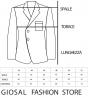 Completo Uomo Giacca Doppio Petto Pantalone Classico Outfit Casual Tinta Unita Blu Royal GIOSAL
