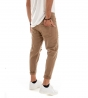 Outfit Uomo Completo Giacca Pelle Jeans Tinta Unita Beige Pantalone Lungo Rotture GIOSAL