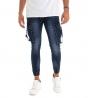 Outfit Uomo Completo Felpa Jeans Skinny Stampa Girocollo GIOSAL