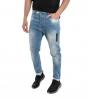 Jeans Uomo Pantalone Denim Stone Washed Rotture Stampa Cinque Tasche Casual GIOSAL