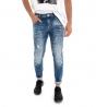 Pantalone Uomo Lungo Jeans Denim Macchie Di Pittura GIOSAL
