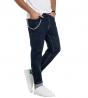 Jeans Uomo Pantalone Denim Scuro Regular Cinque Tasche Catena GIOSAL