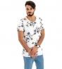 Maglia Uomo Maniche Corte T-Shirt Mezze Maniche Fantasia a Fiori Floreale GIOSAL