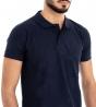 Polo Uomo Maglia Maniche Corte T-Shirt Mezza Manica Con Colletto Blu Tinta Unita GIOSAL