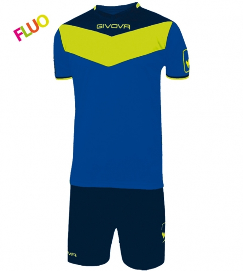 Kit Calcio GIVOVA Campo Fluo Completino Football Sport Sportivo GIOSAL