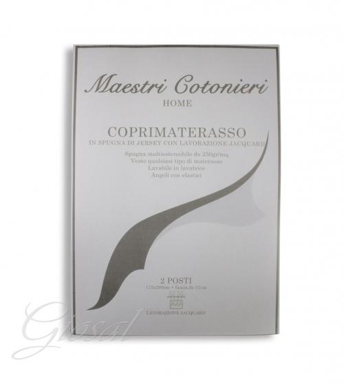 Coprimaterasso Maestri Cotonieri Spugna Jersey Stretch 1,5 Piazze 125x200cm GIOSAL