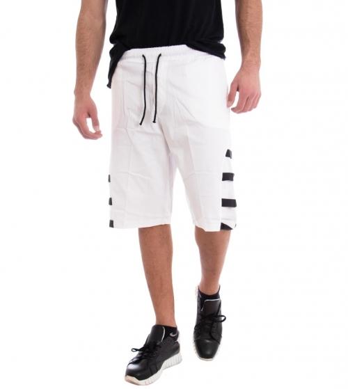 Bermuda Uomo Pantalone Corto Pantaloncini Tuta Bianco Cavallo Basso GIOSAL