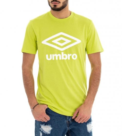 T-Shirt Uomo Maglia Umbro Lime Stampa Girocollo RAP00039B GIOSAL