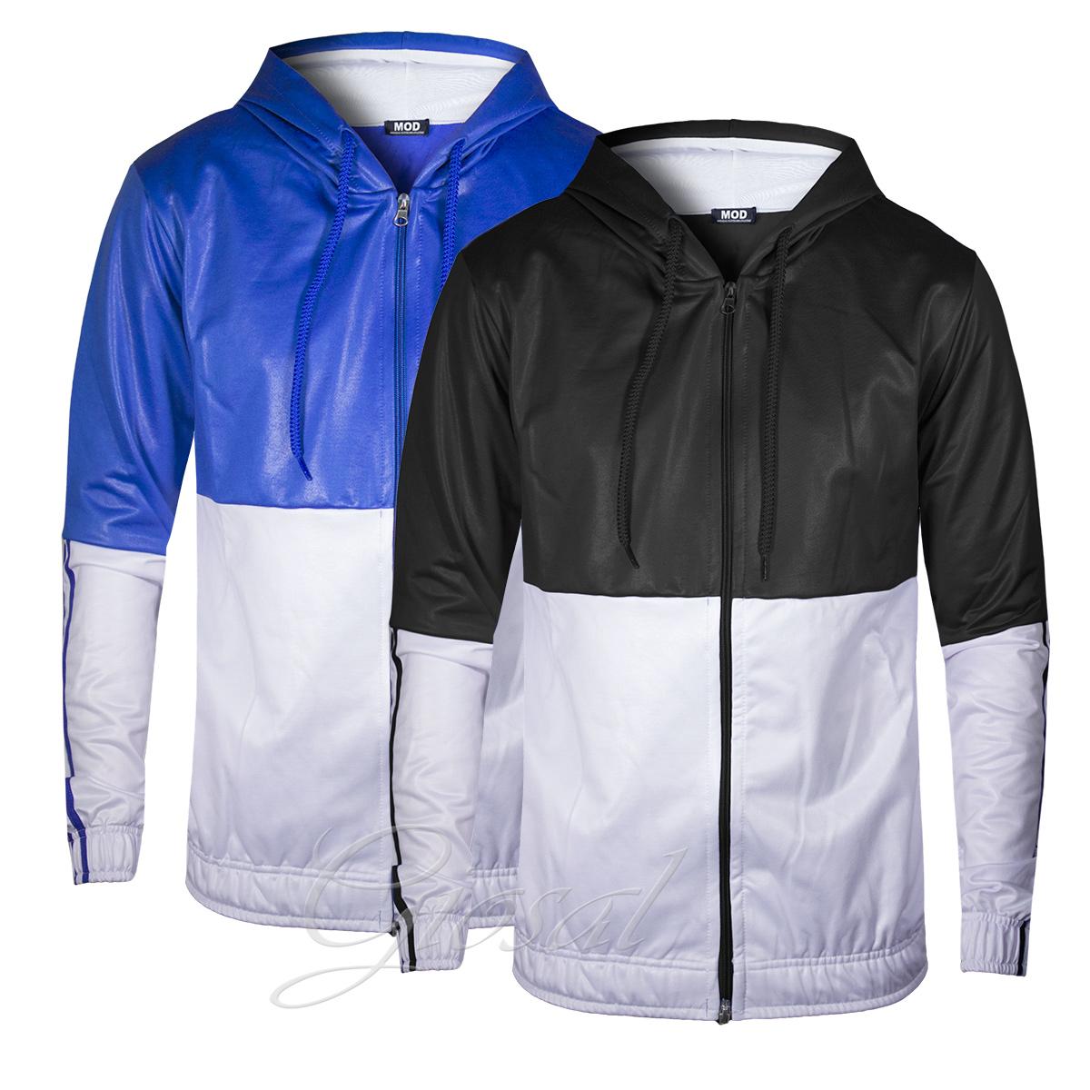 Activewear Sudadera Bicolor con Capucha para Hombre