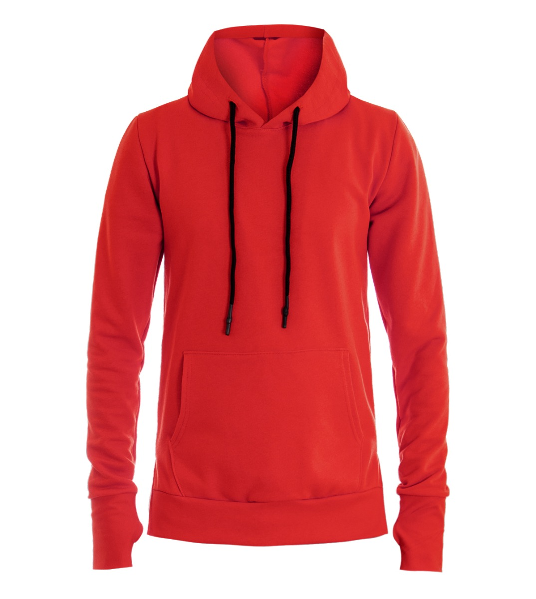 Détails sur Sweat Hommes à Capuche Couleur Unie Rouge Coton T Shirt Manche Longue Mod Giosal
