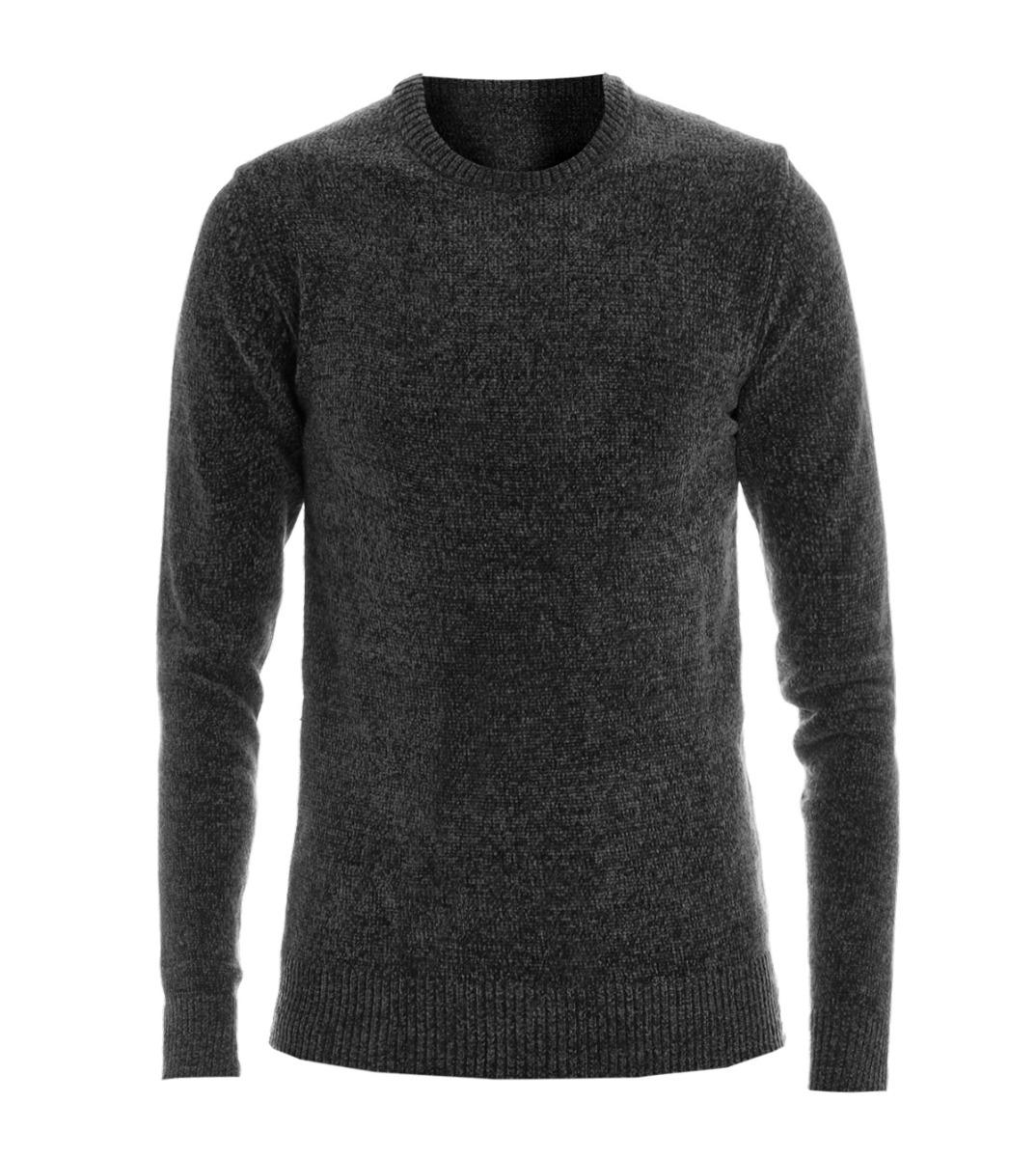 Pullover Pullover Einfarbig Herren Slim Pullover Melange