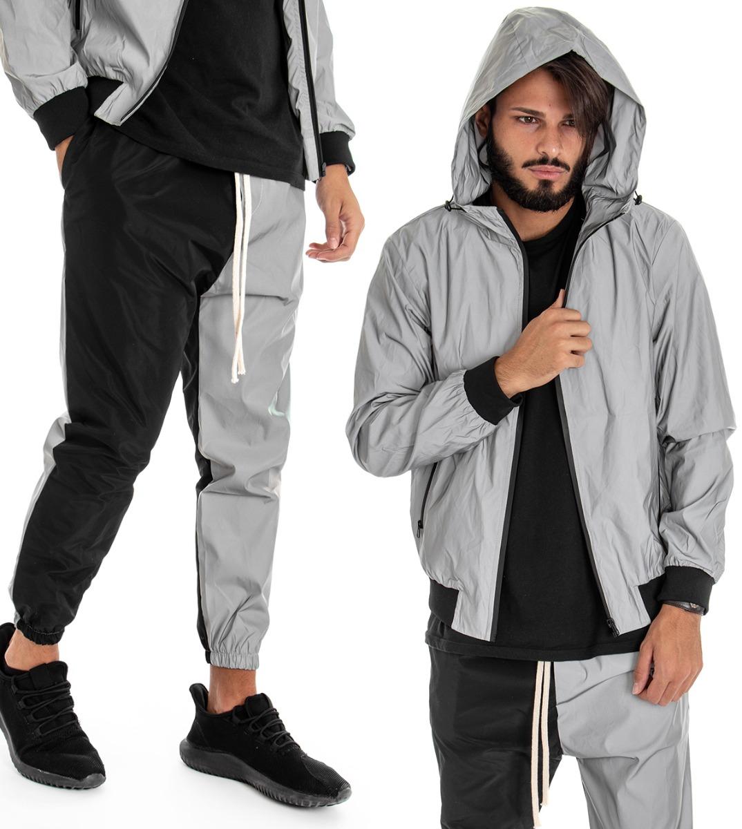 Reflektierende Reflektierende Look Jacke Outfit Casual Jacke