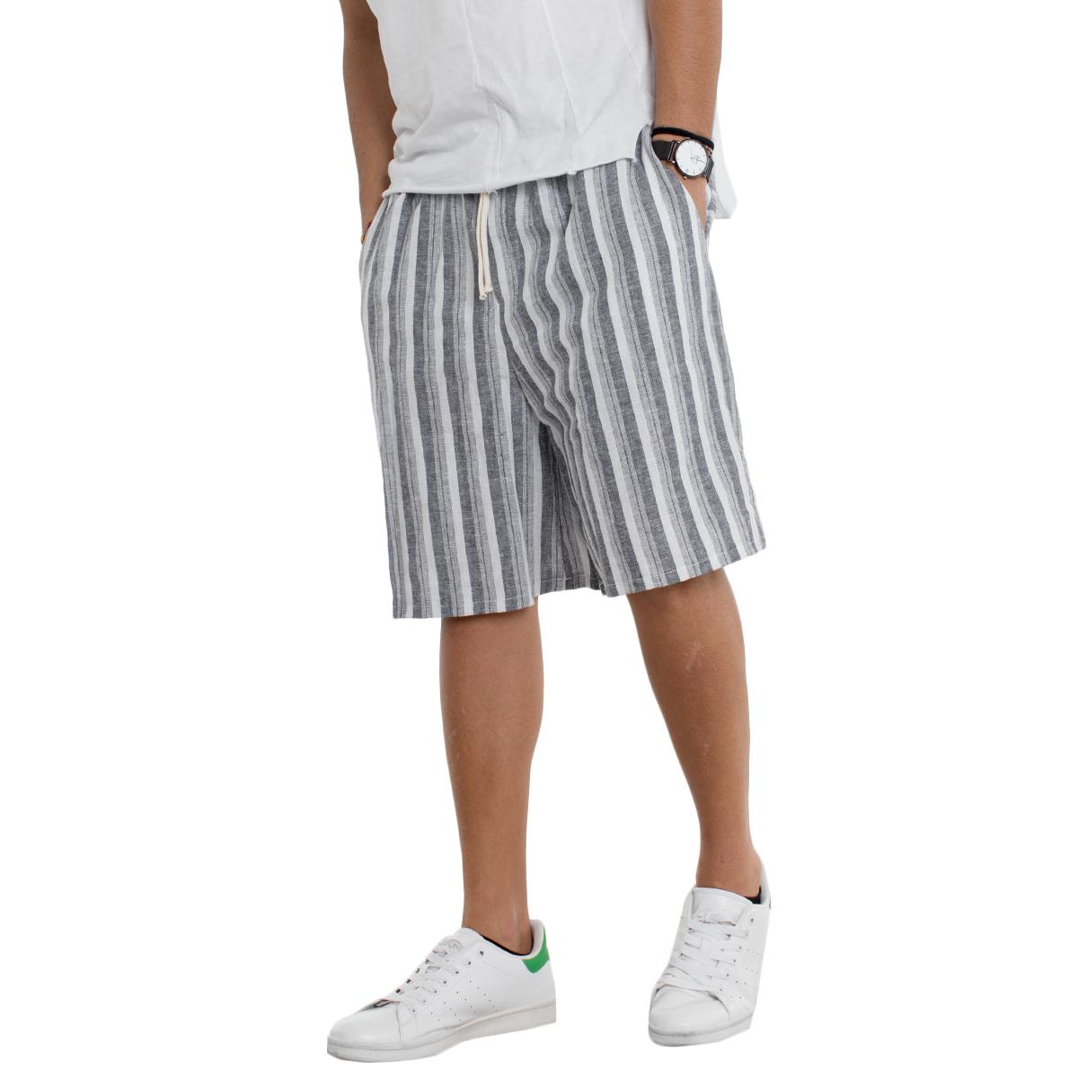 Bermuda Gris Pantalon Short Giosal Élastique IY6vb7gfy
