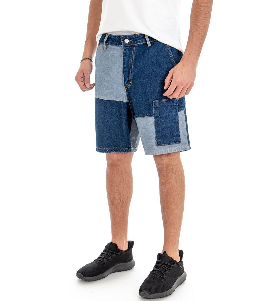 Aspirante Bermuda Jeans Pantaloni Corti Uomo Pantaloncini Denim Toppe Due Colori Giosal Buoni Compagni Per Bambini E Adulti