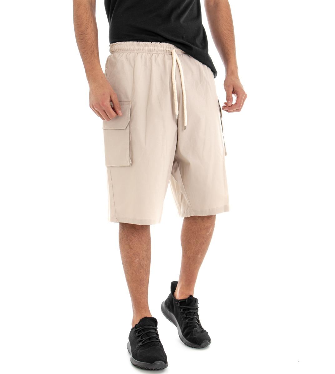 pantaloni donna bermuda lino cotone elastico vari colori estivi
