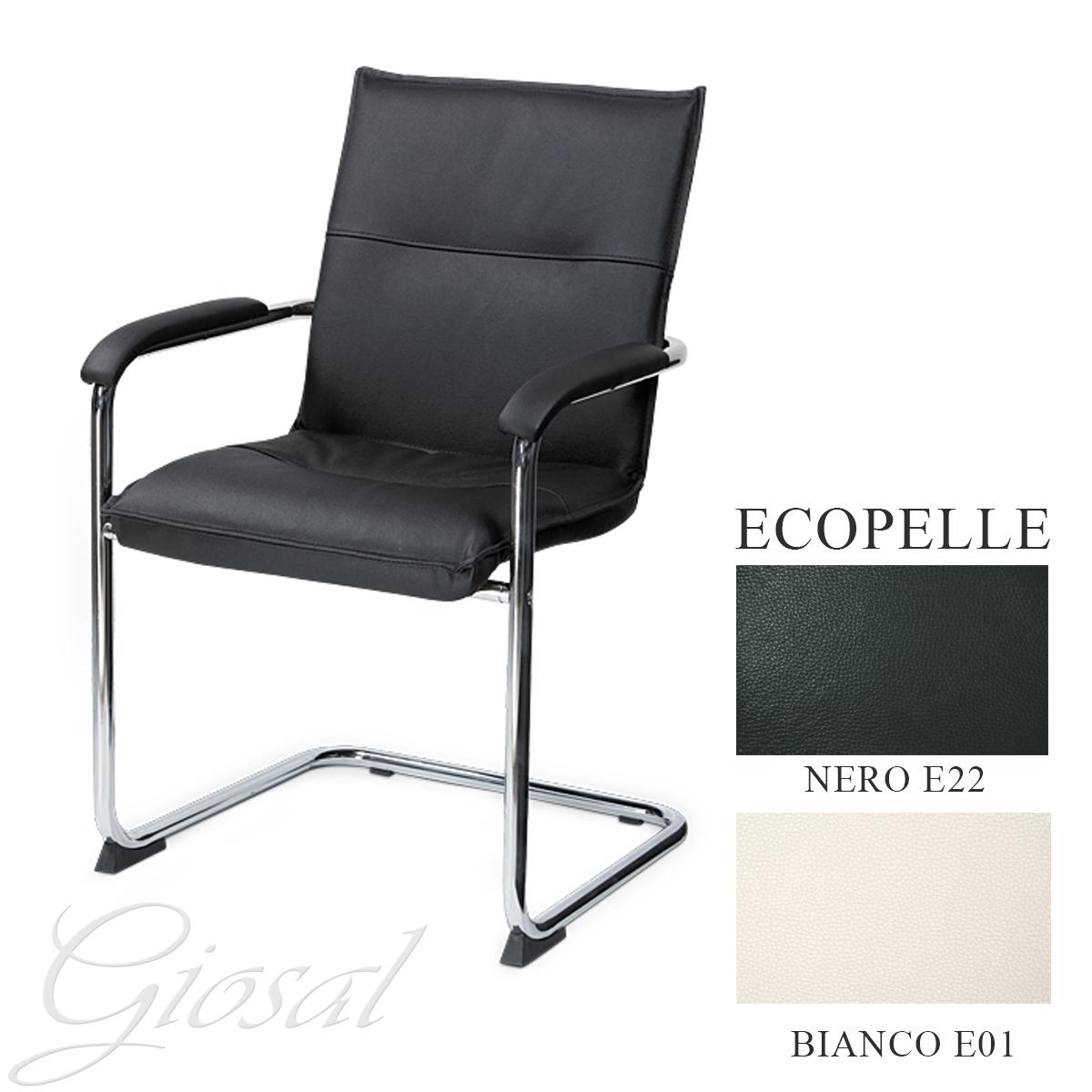 sessel silla schlitten kunstleder wei schwarze pr sidenten b ro kunstleder b ebay. Black Bedroom Furniture Sets. Home Design Ideas