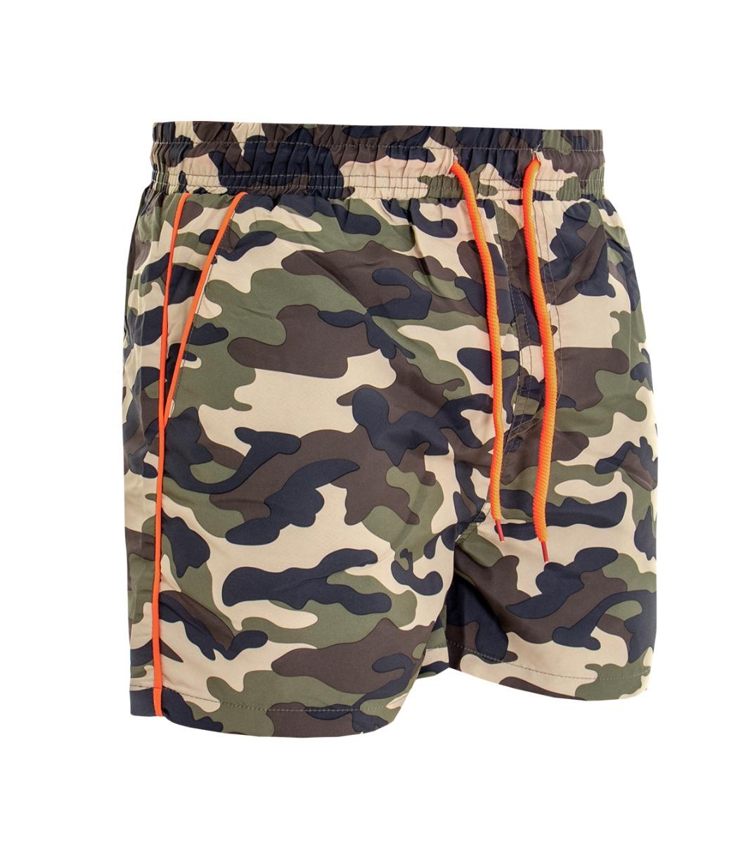 en gros prix réduit sortie en ligne Détails sur Costume Homme de Bain Caleçon Boxer Fantaisie Camouflage  Militaire Biais Orange