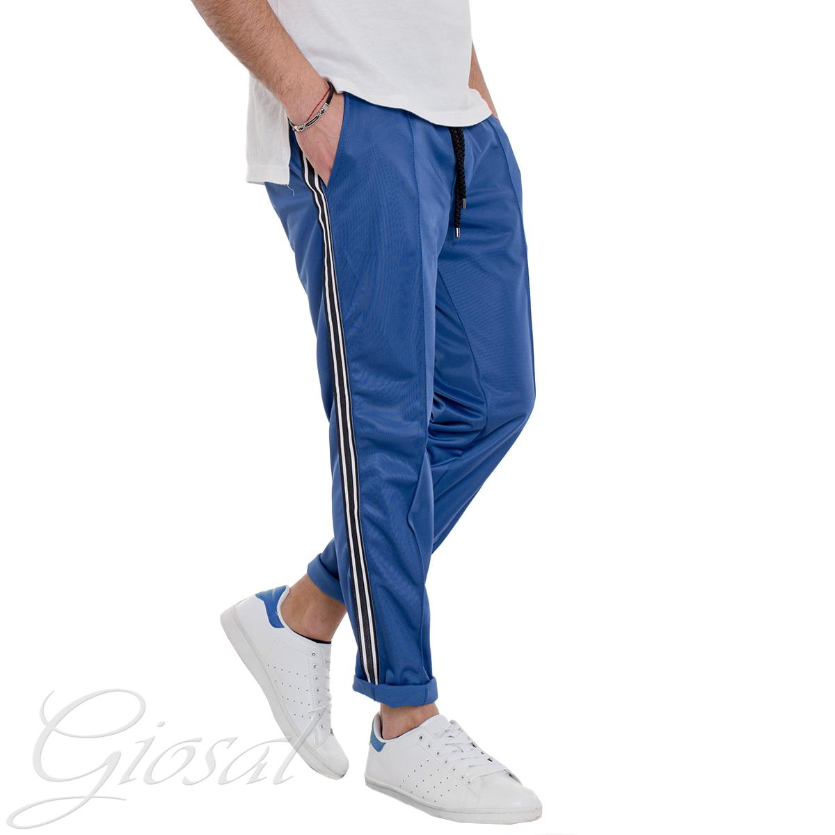 MOD GIOSAL de homme lignes Costume T1165A confort Casual Sport pantalon bleu Royal Relax IgfyYbv76