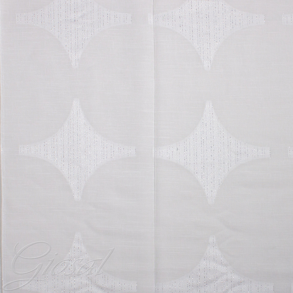 Tessuto-Per-Tenda-Cindy-Bianco-Al-Metro-Arredo-Tendaggi-Telo-Tenda-GIOSAL miniatura 3